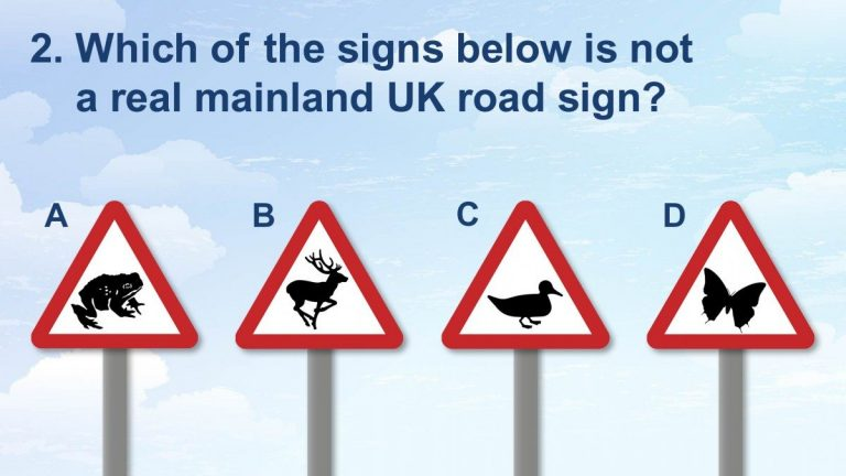Seeing the signs: how well do you know the UK's road signs